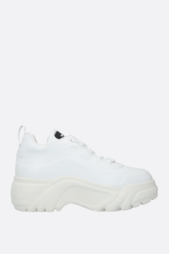VALENTINO GARAVANI: smooth leather flatform sneakers Color White_1