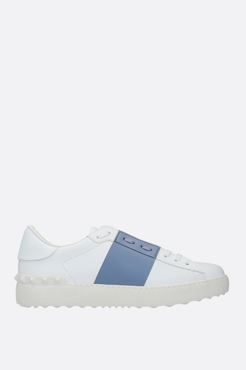 VALENTINO GARAVANI: Open smooth leather sneakers_1