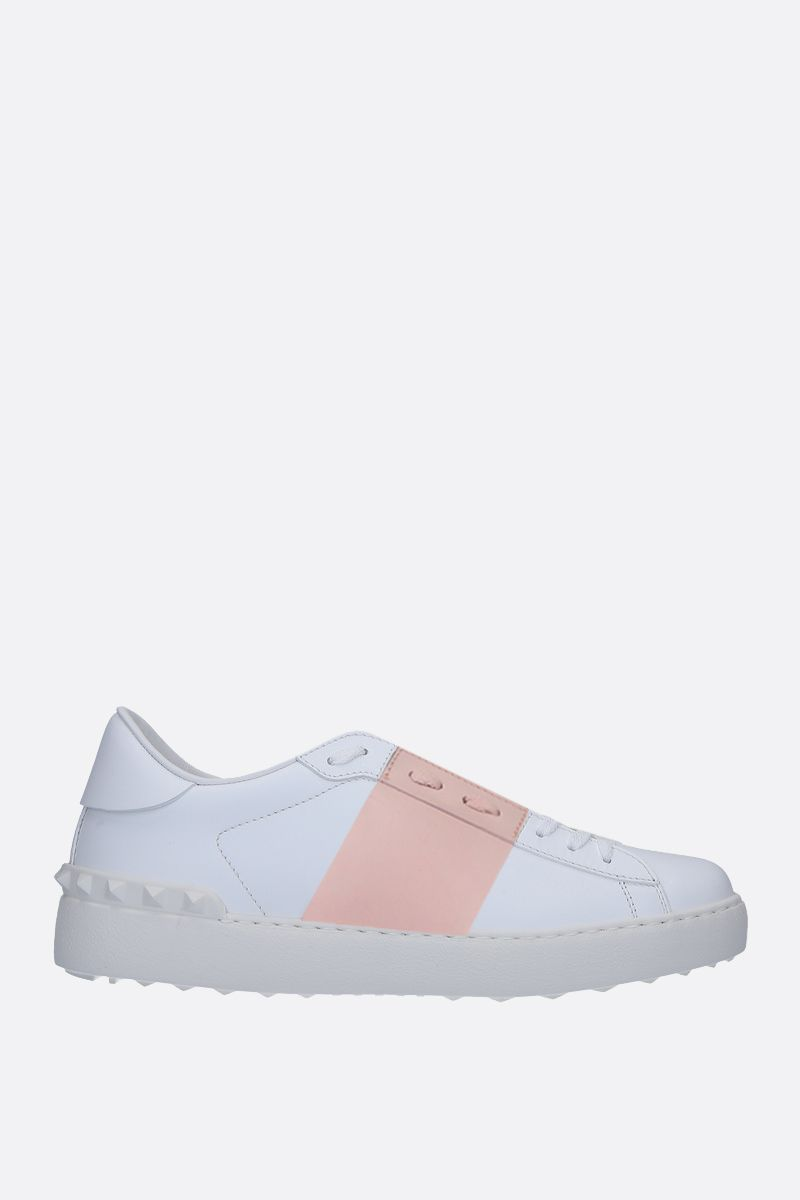 VALENTINO GARAVANI: Open smooth leather sneakers Color Multicolor_1