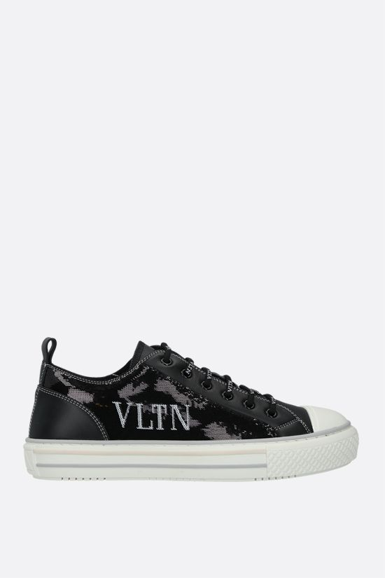 VALENTINO GARAVANI: Giggies VLTN smooth leather and sequins sneakers Color Black_1