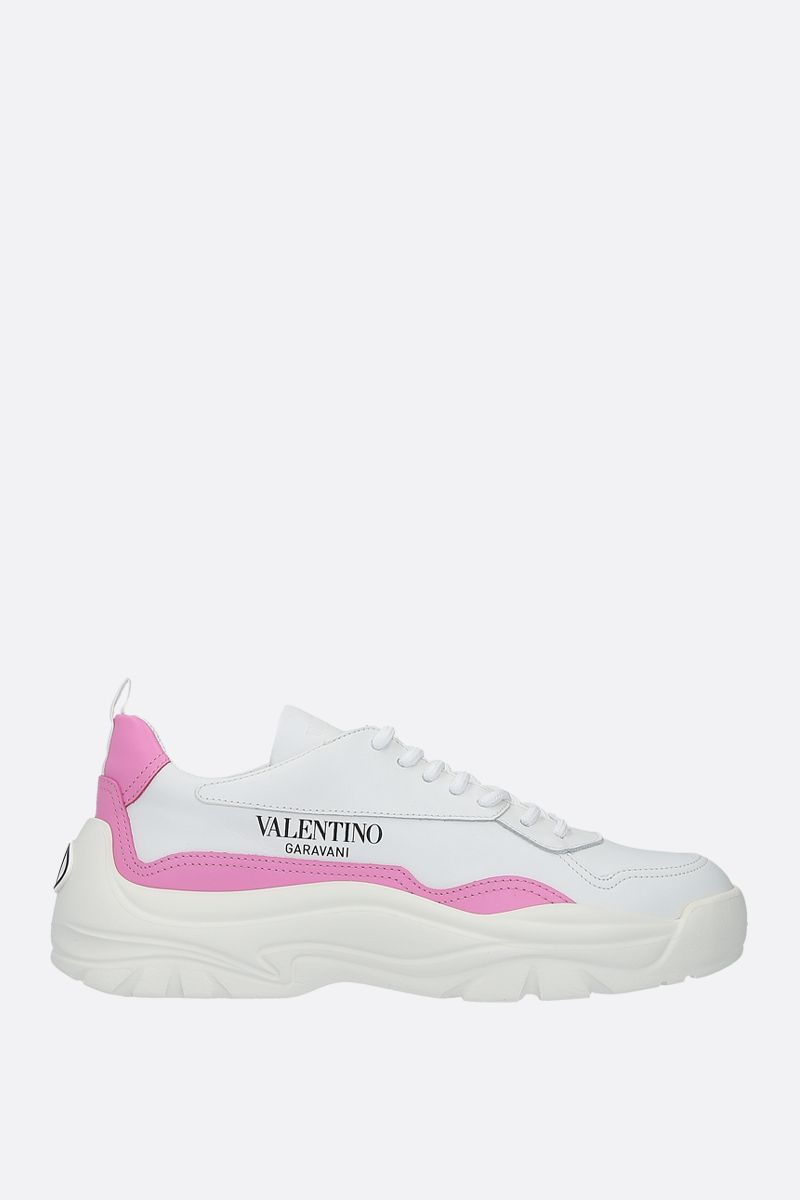 VALENTINO GARAVANI: Gumboy smooth leather sneakers Color White_1