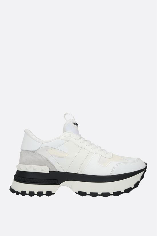 VALENTINO GARAVANI: Rockrunner Up camouflage sneakers in a mix of materials Color White_1