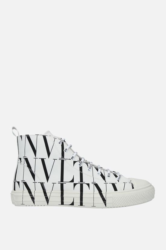 VALENTINO GARAVANI: Giggies VLTN nylon sneakers Color Grey_1