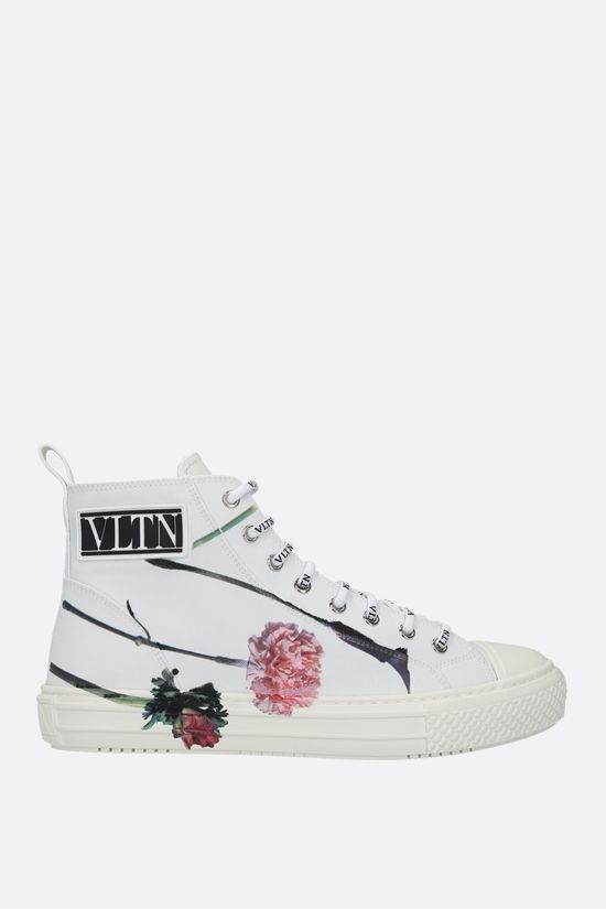 VALENTINO GARAVANI: sneaker high-top Giggies Flowersity in nylon Colore Multicolore_1