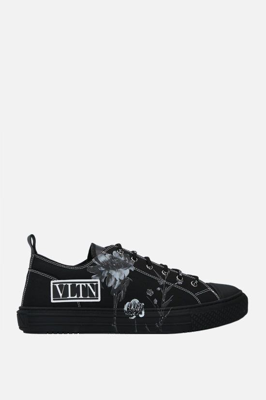 VALENTINO GARAVANI: Giggies Flowersity canvas sneakers Color Black_1