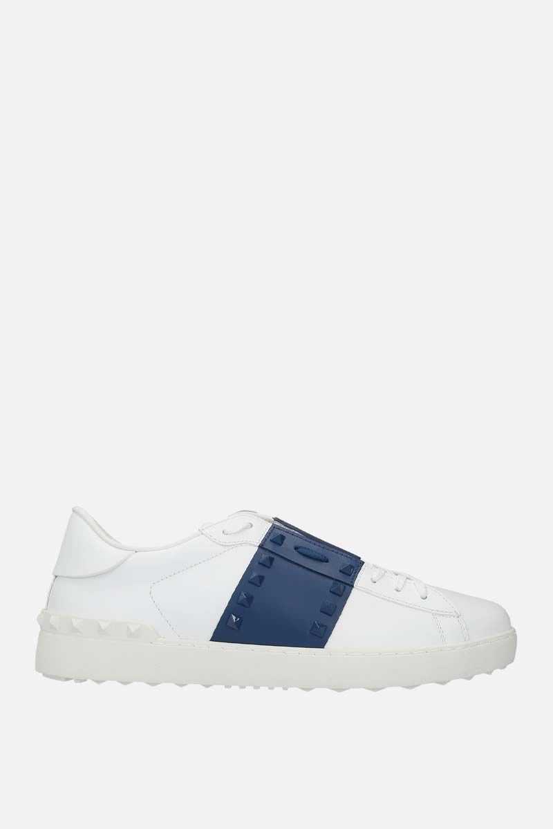 VALENTINO GARAVANI: Rockstud Untitled smooth leather sneakers_1