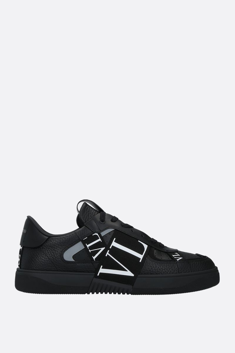VALENTINO GARAVANI: VL7N grainy leather and tech fabric sneakers Color Black_1