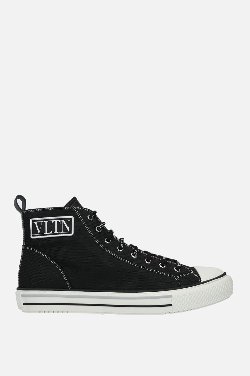 VALENTINO GARAVANI: Giggies VLTN nylon sneakers Color Black_1