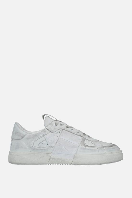 VALENTINO GARAVANI: VL7N smooth leather and fabric sneakers Color White_1