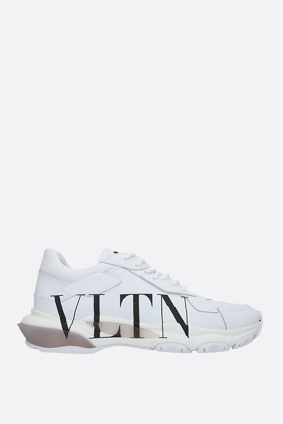 VALENTINO GARAVANI: Bounce VLTN smooth leather sneakers Color Grey_1