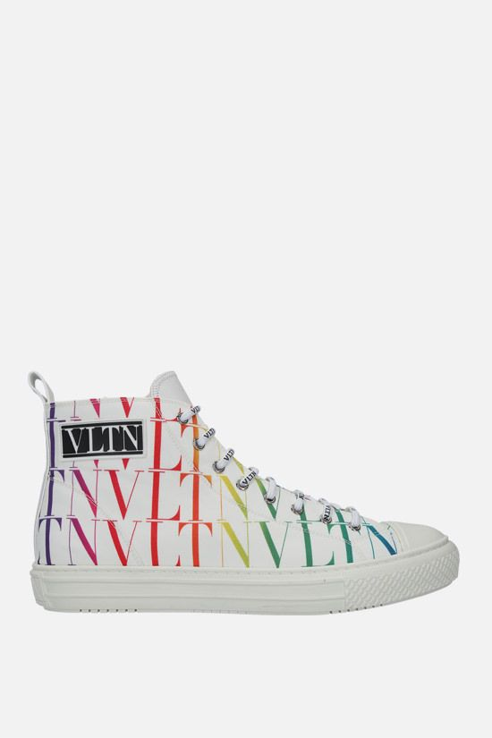 VALENTINO GARAVANI: Giggies VLTN TIMES nylon high-top sneakers Color White_1