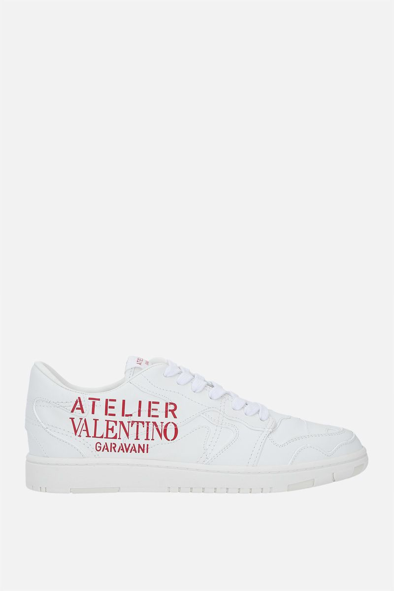 VALENTINO GARAVANI: Atelier Shoes 07 Camouflage Edition smooth leather sneakers Color White_1