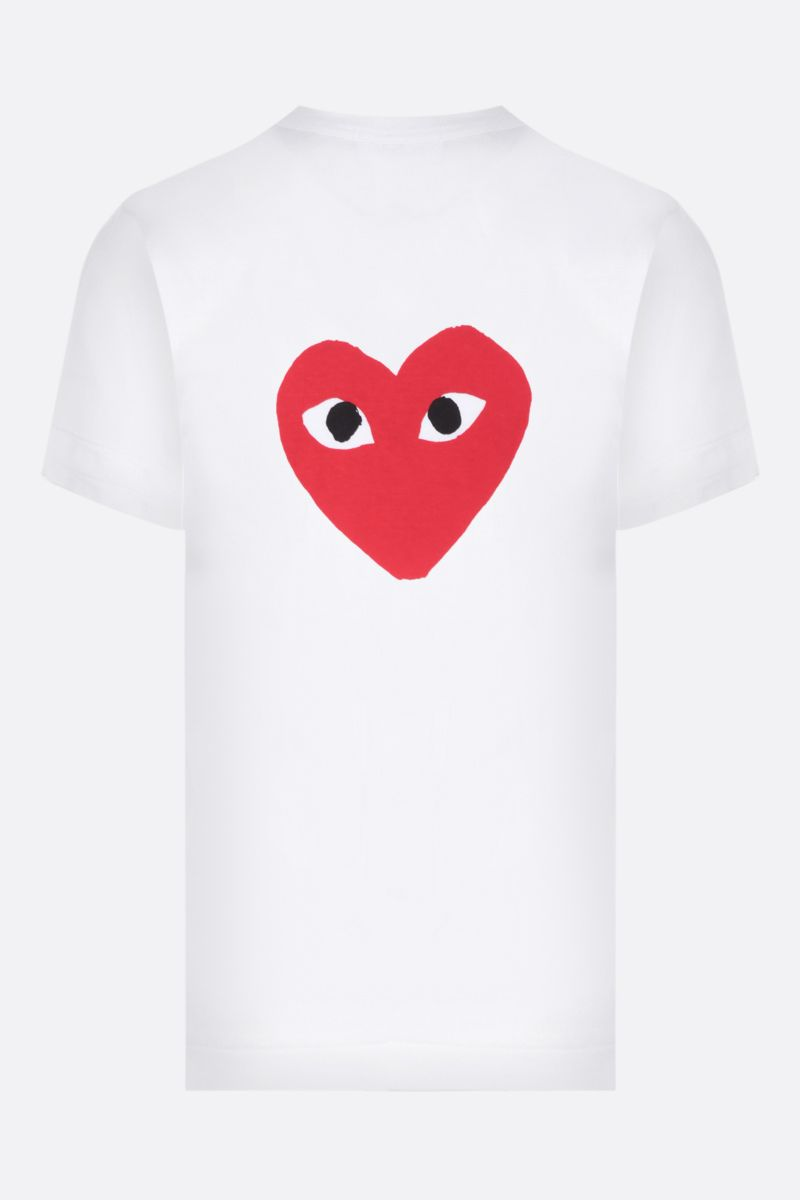 COMME des GARCONS PLAY: t-shirt in cotone stampa logo Colore White_2