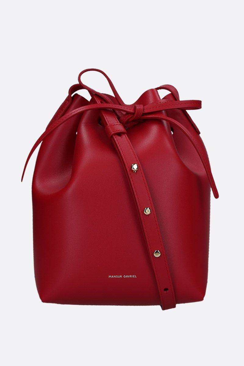 MANSUR GAVRIEL: Bucket mini shoulder bag in smooth leather_1