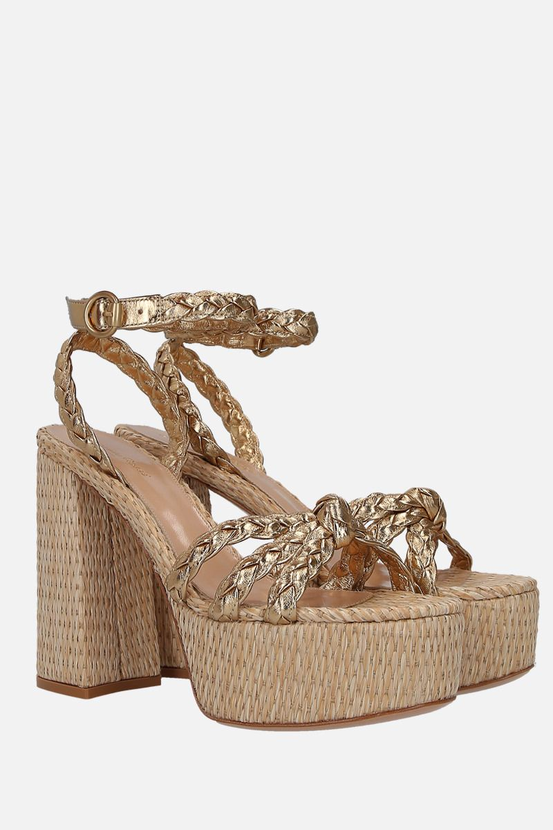 GIANVITO ROSSI: Kea platform sandals in laminated nappa_2