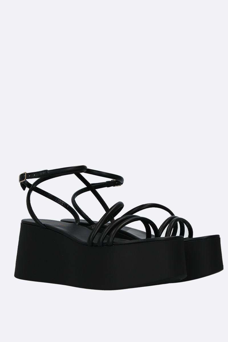 GIANVITO ROSSI: Bekah flatform sandals in soft nappa Color Black_3