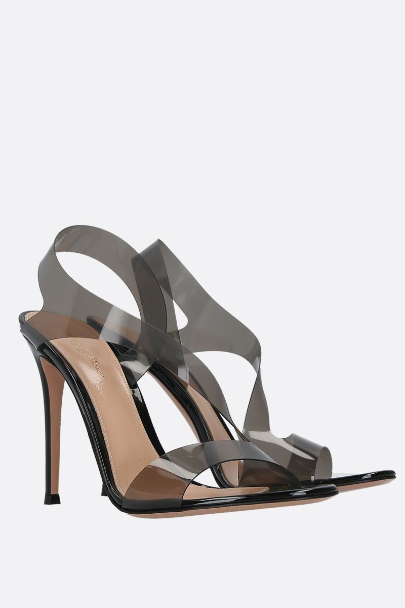 GIANVITO ROSSI: Metropolis PVC and patent leather sandals_2