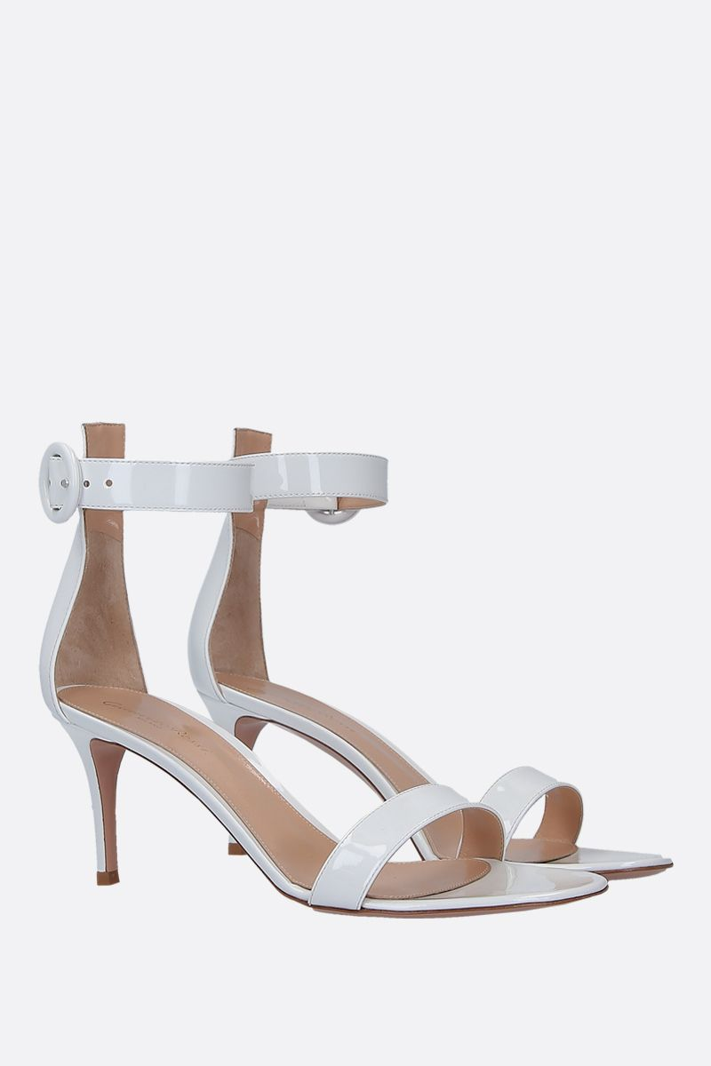 GIANVITO ROSSI: Portofino patent leather sandals Color White_2