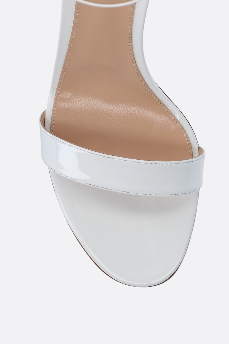 GIANVITO ROSSI: Portofino patent leather sandals Color White_4