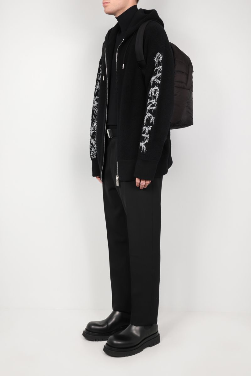 GIVENCHY: Barbed Wire full-zip wool jacket Color Black_2