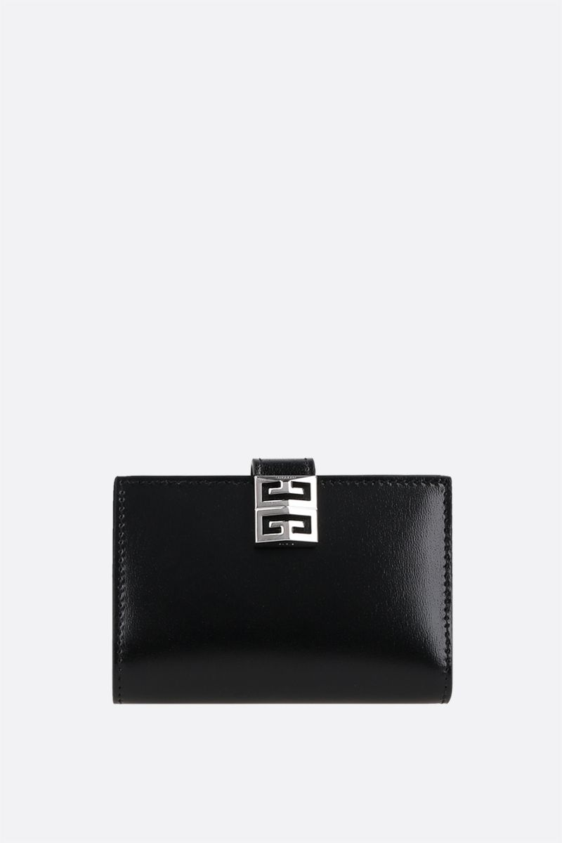 GIVENCHY: 4G smooth leather card case Color Black_1