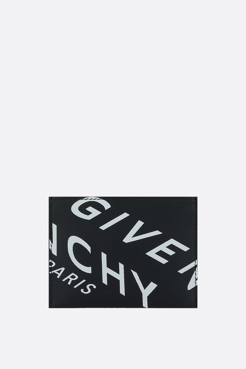GIVENCHY: porta carte Givenchy Refracted in pelle liscia Colore Nero_1