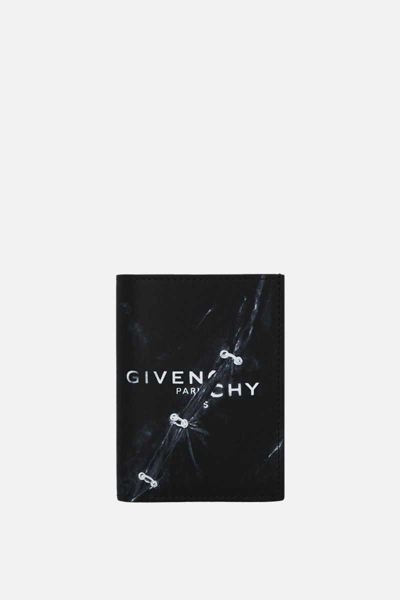 GIVENCHY: Givenchy Trompe l'œil smooth leather card case Color Black_1