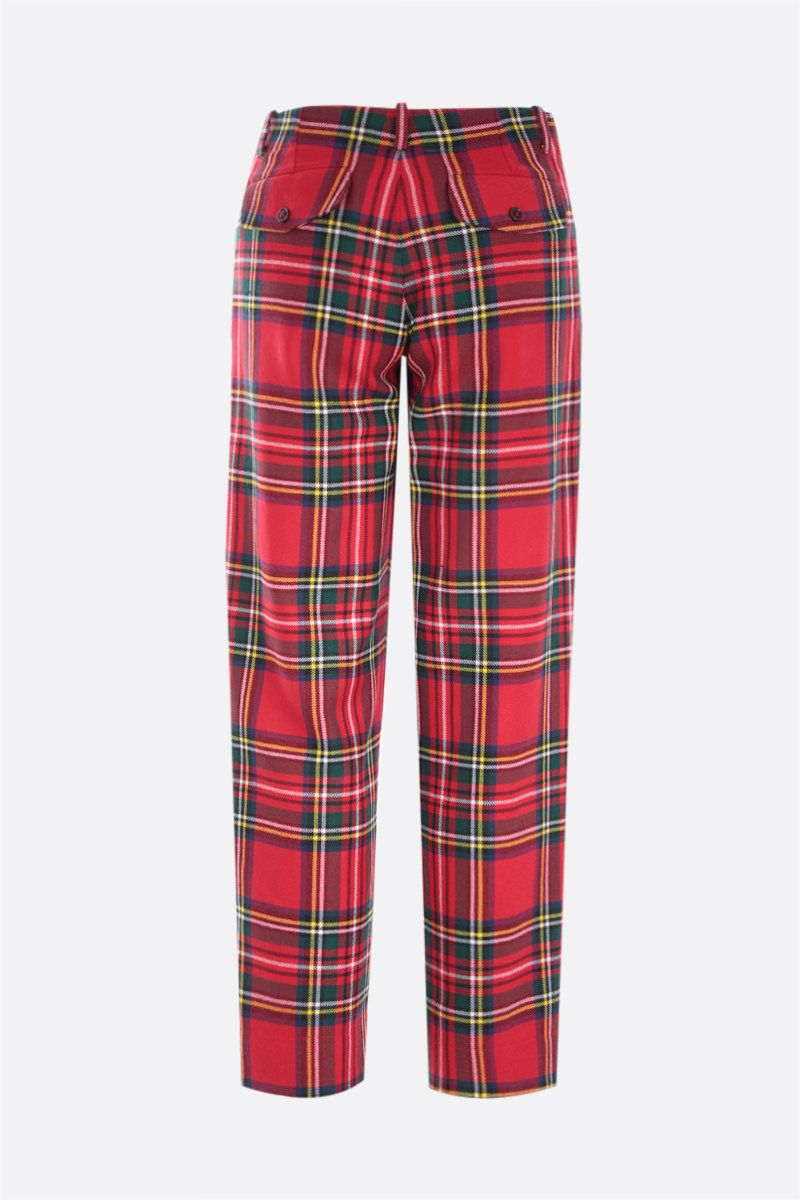MOLLY GODDARD: Franko frilled wool pants Color Red_2