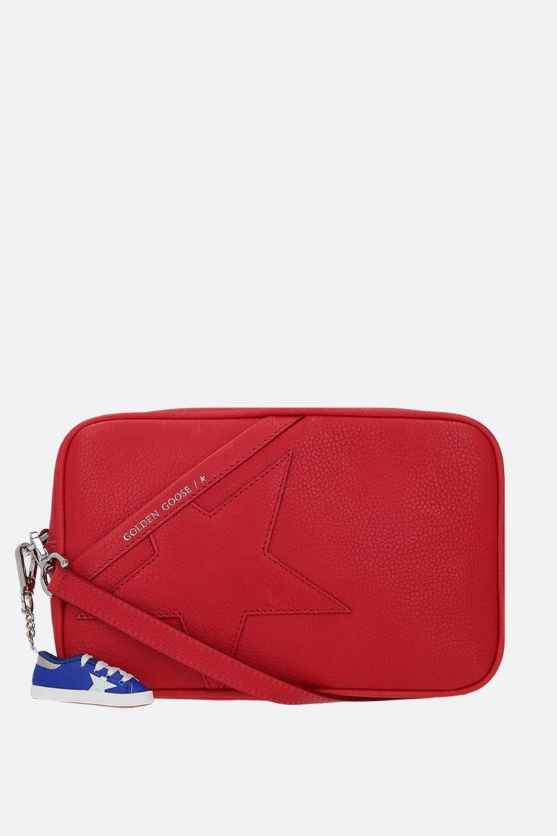 GOLDEN GOOSE DELUXE BRAND: Star crossbody bag in grainy leather Color Red_1