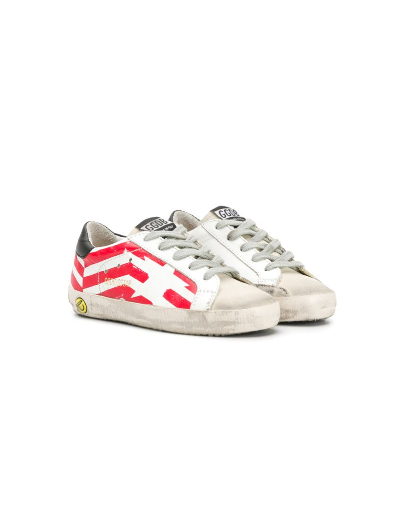 GOLDEN GOOSE DELUXE BRAND KIDS: Superstar leather and suede sneakers Color Multicolor_1