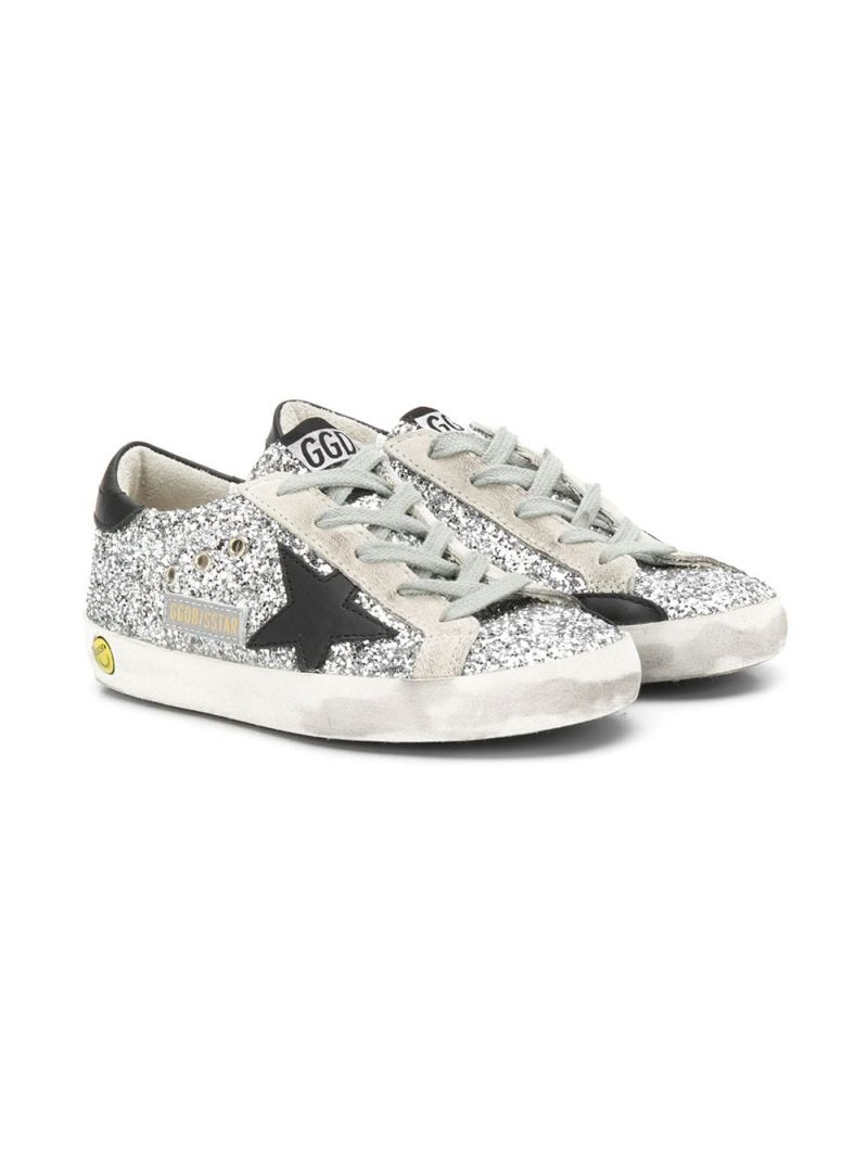 GOLDEN GOOSE DELUXE BRAND KIDS: Superstar glitter sneakers Color Multicolor_1