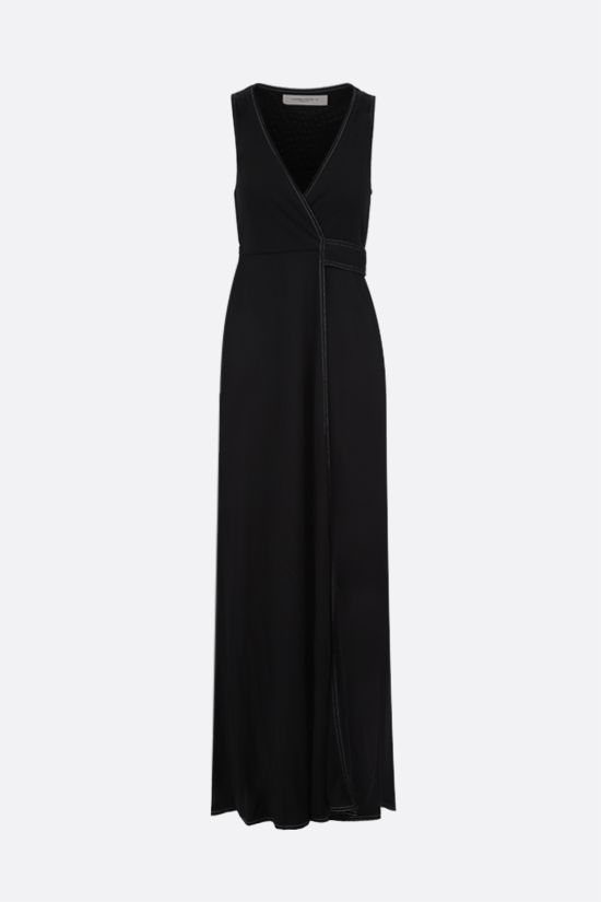 GOLDEN GOOSE DELUXE BRAND: Cleopatra jersey long dress Color Black_1