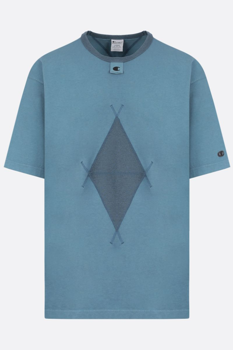 CHAMPION x CRAIG GREEN: contrast detailing cotton t-shirt Color Blue_1