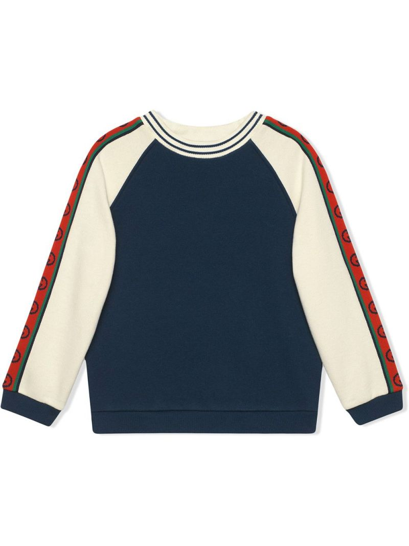 GUCCI CHILDREN: Interlocking G band-detailed cotton sweatshirt_1