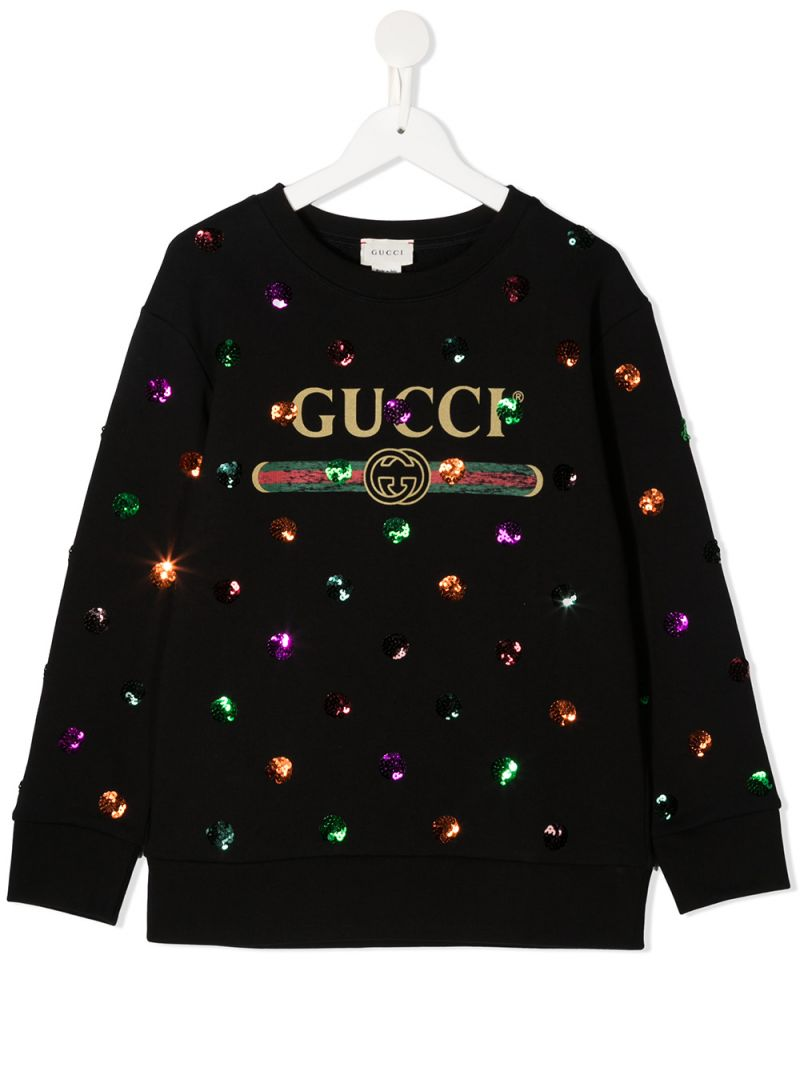 GUCCI CHILDREN: Gucci vintage print cotton sweatshirt Color Multicolor_1