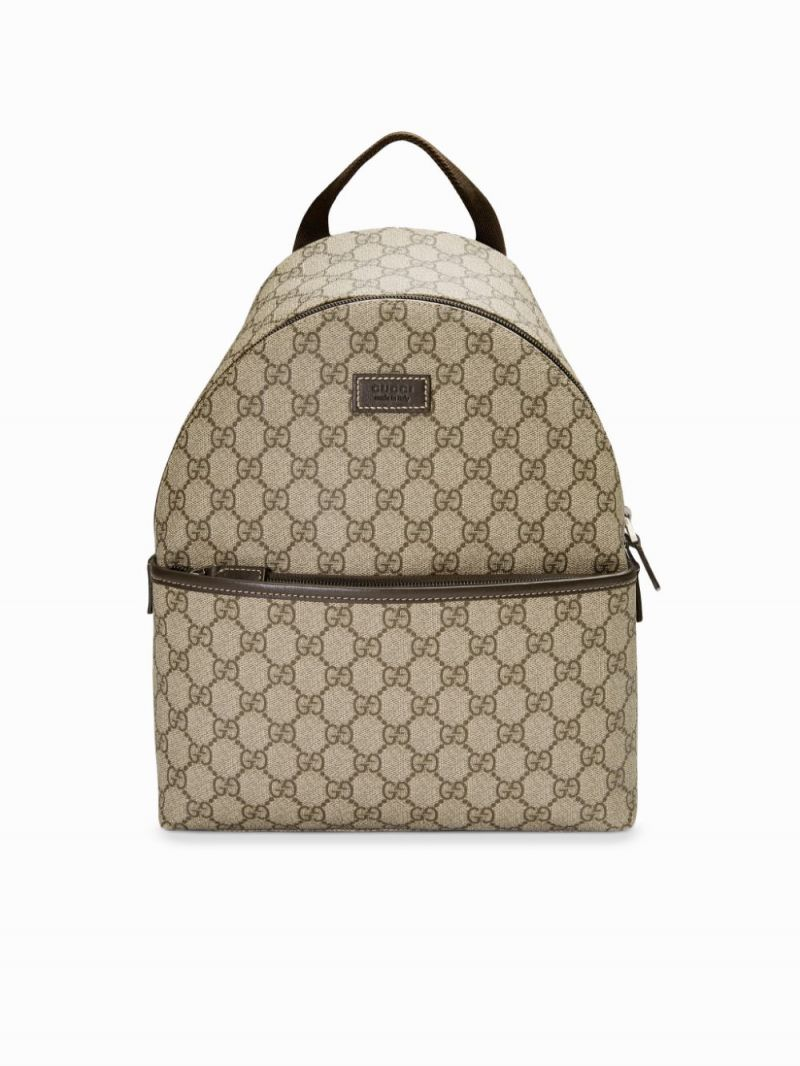 GUCCI CHILDREN: GG Supreme canvas backpack Color Brown_1