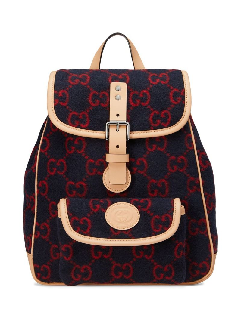 GUCCI CHILDREN: GG wool backpack Color Multicolor_1