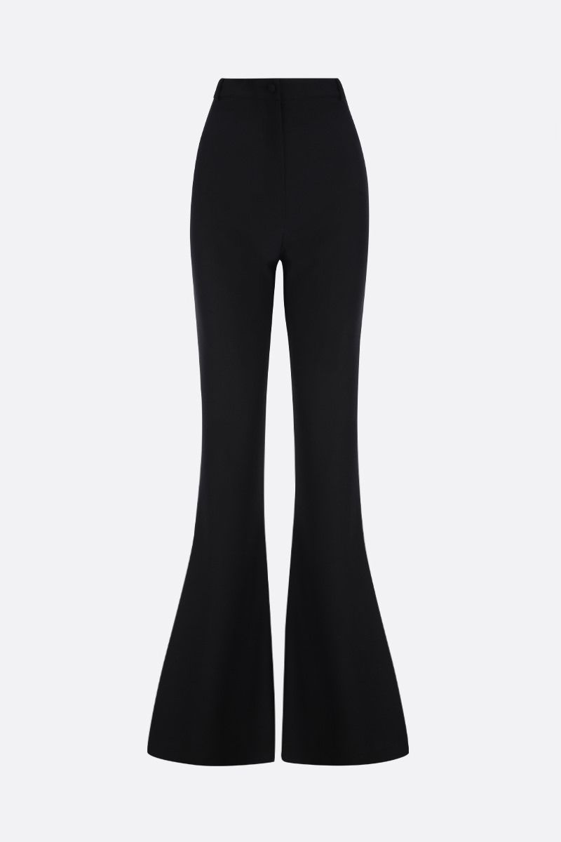 HEBE STUDIO: cady flare pants Color Black_1