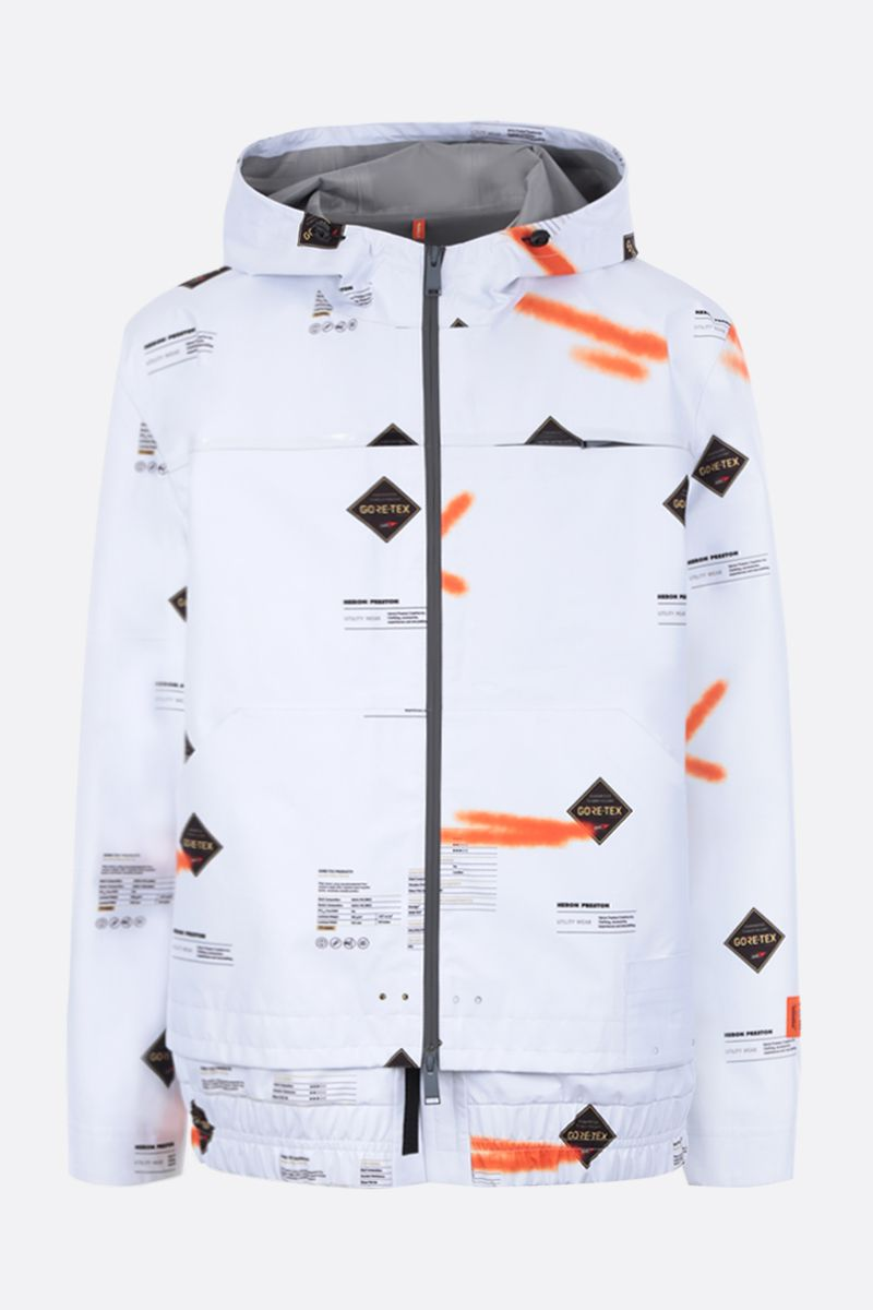 HERON PRESTON: Goretex nylon windbreaker Color White_1