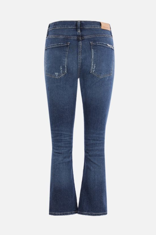 CITIZENS OF HUMANITY: Demy distressed-effect cropped flare jeans Color Blue_2