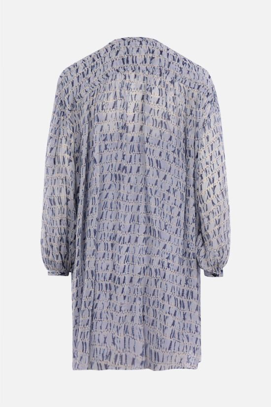 ISABEL MARANT ETOILE: Silorion georgette short dress Color Blue_2