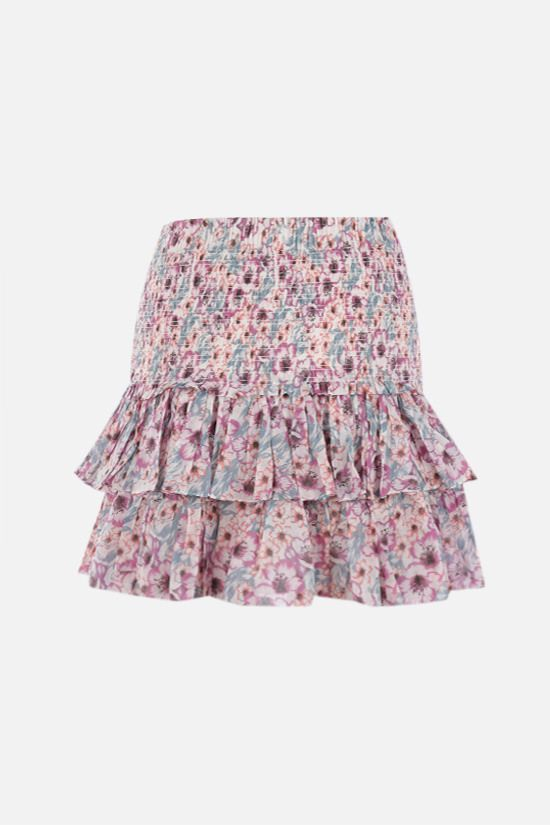 ISABEL MARANT ETOILE: Naomi cotton flounced miniskirt Color Multicolor_2