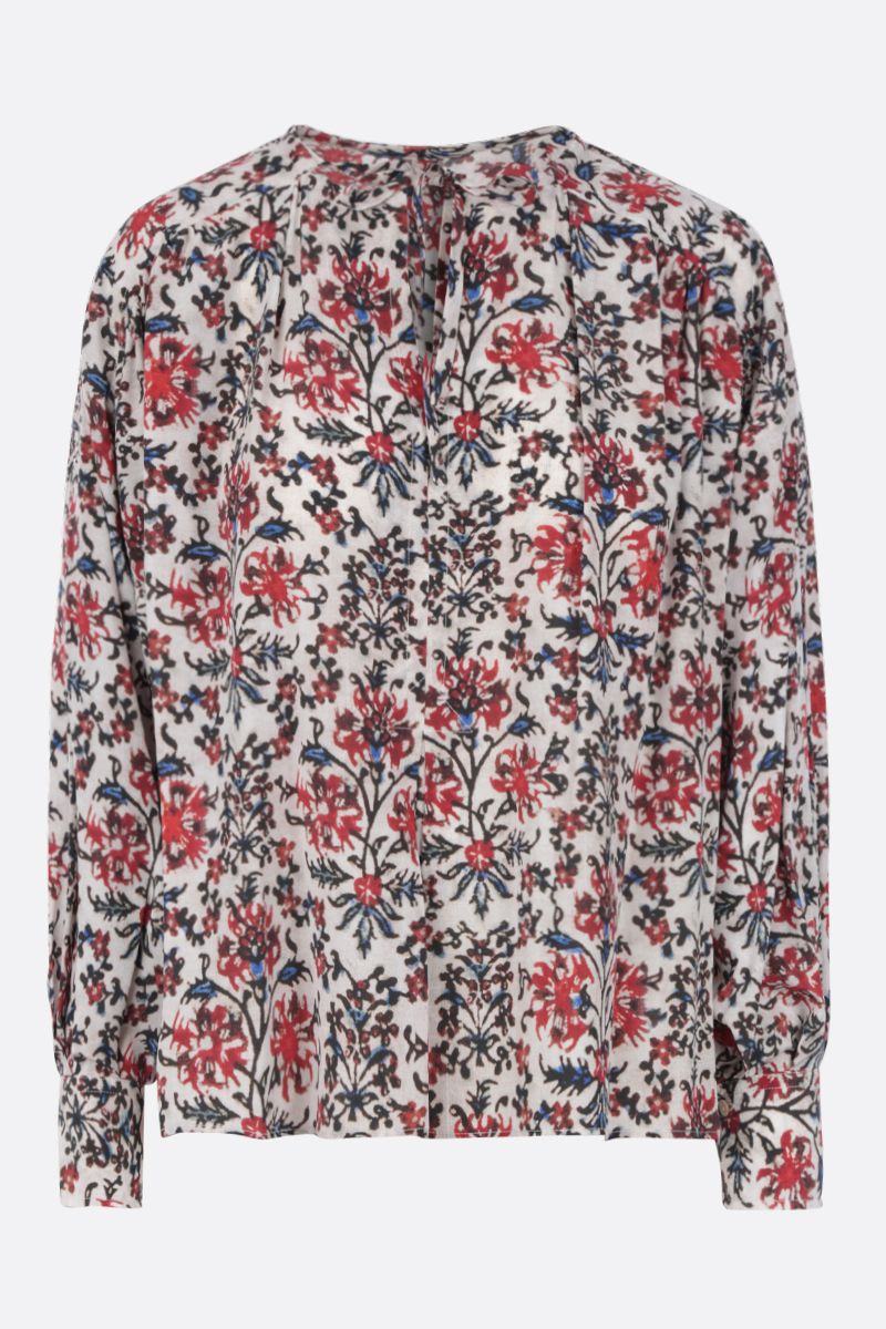 ISABEL MARANT: Amba blouse in printed silk blend Color Red_1
