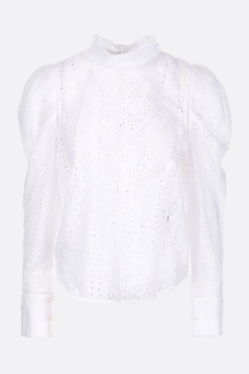 ISABEL MARANT: Qyandi blouse in broderie anglaise Color White_1