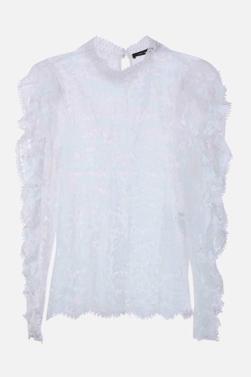 ISABEL MARANT: Tory floral lace blouse Color White_1