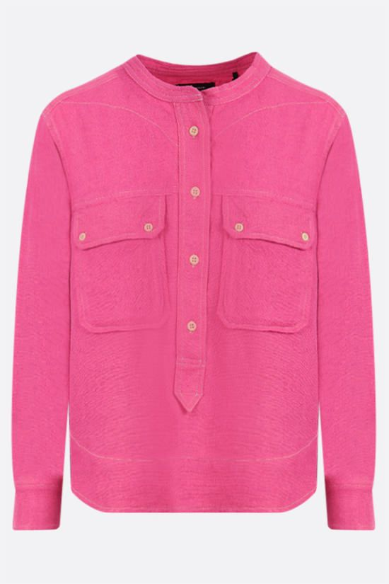 ISABEL MARANT: Tecoyo silk blouse Color Pink_1