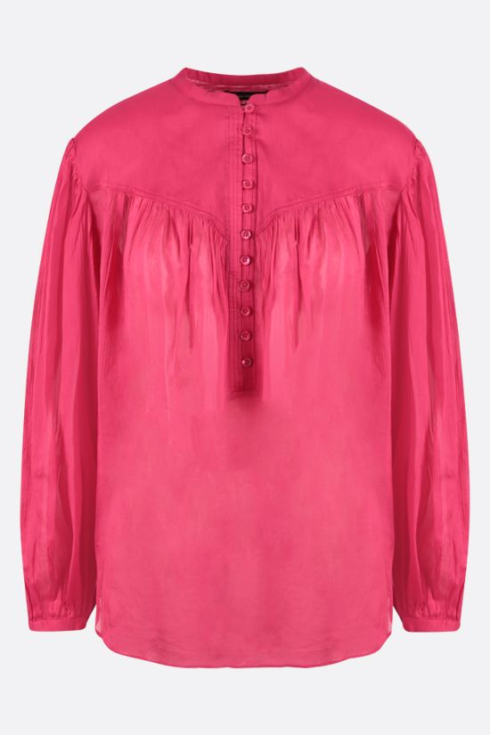 ISABEL MARANT: Kiledia cotton linen blend blouse Color Purple_1