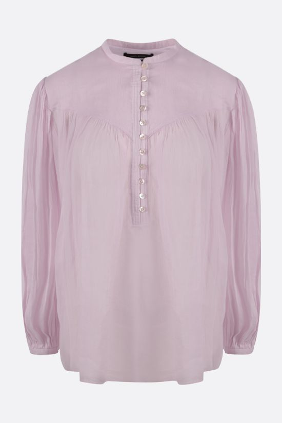 ISABEL MARANT: Kiledia cotton linen blend blouse Color Pink_1