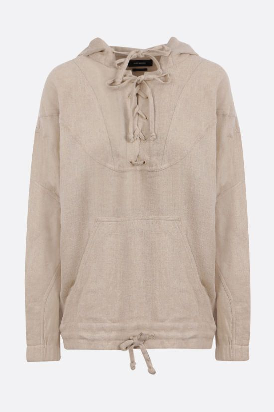 ISABEL MARANT: Paselo silk hoodie Color Neutral_1