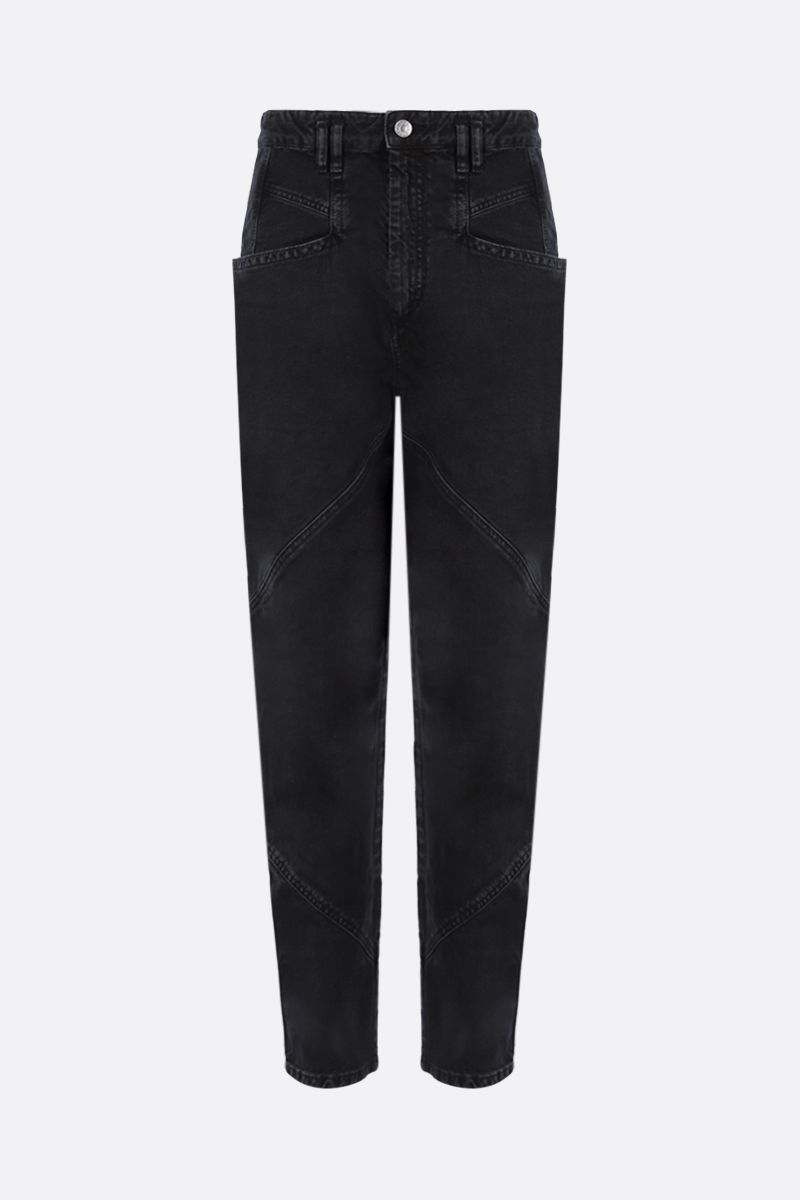 ISABEL MARANT: Nadeloisa high-waist jeans Color Grey_1
